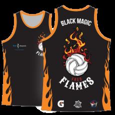 Vayda Fremantle Indoor Beach Volleyball Flames Singlet